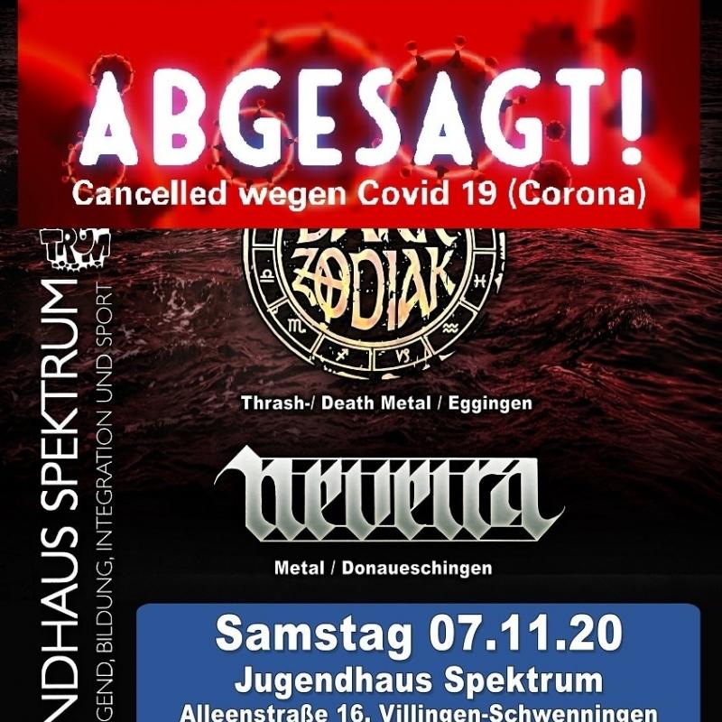 Plakat, Konzert 7.11.20 Spektrum abgesagt