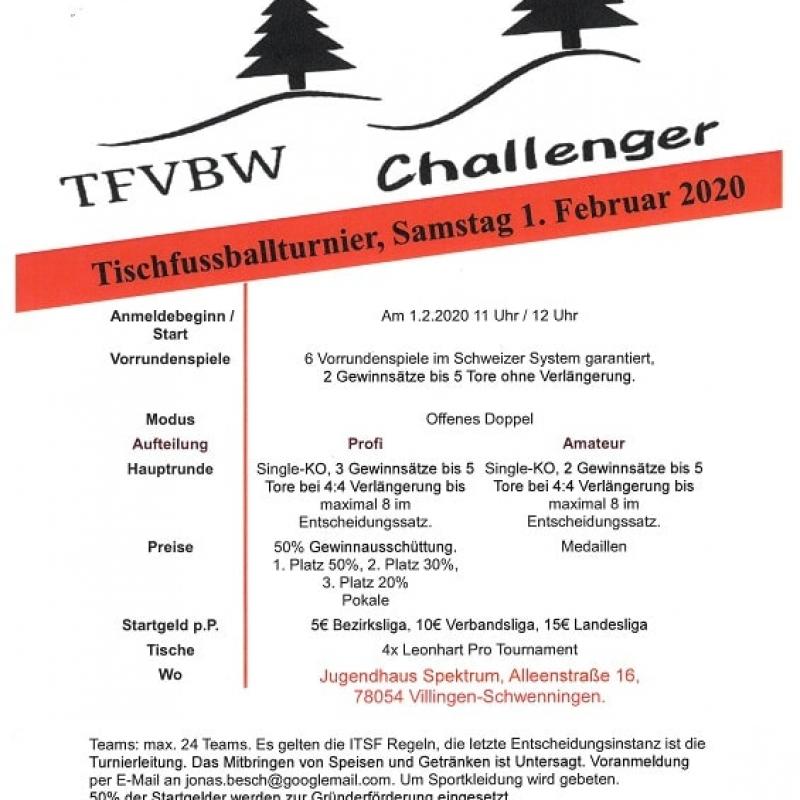 Plakat Tischfussballturnier 1.2.20, webseite